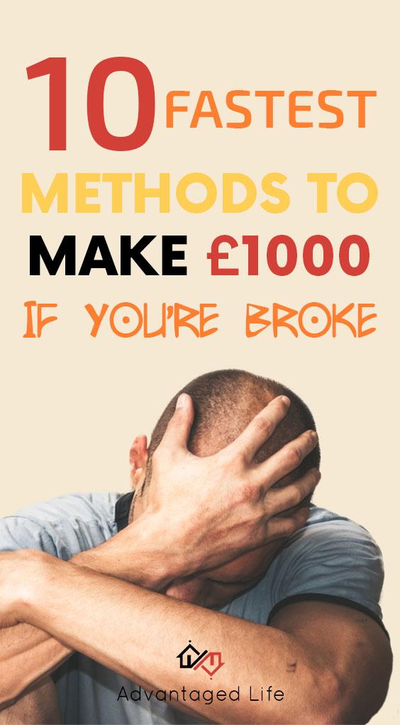 10 Cara Tercepat untuk Menghasilkan £ 1000